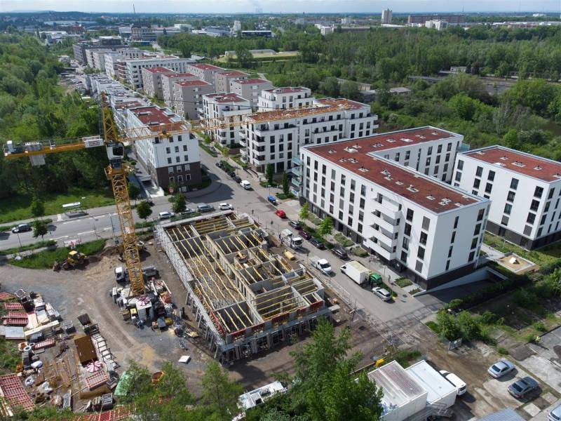 In der Hafenstraße entstehen 18 neue Wohnungen. Copyright: Peter Usbeck / LWB