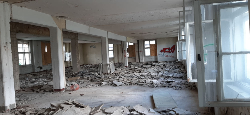 So sieht es aktuell in dem Gebäude aus. Copyright: Immopact